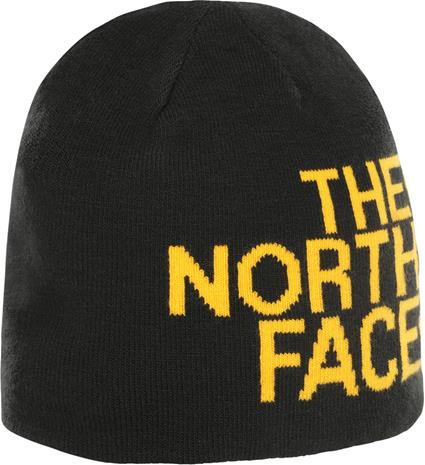 The North Face Reversible TNF Banner Beanie Pipo, tnf black/tnf yellw logo xl