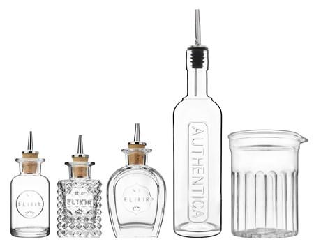 Luigi Bormioli Mixology pullot ja mikserilasi
