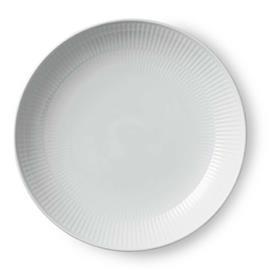 Royal Copenhagen White Fluted Modern Plate, 25 cm