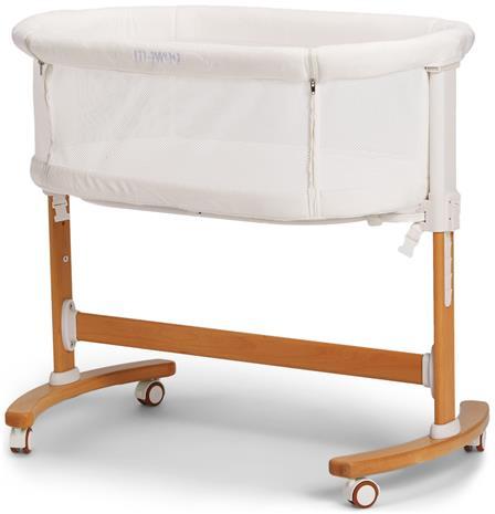 Moweo Puinen Bedside Crib, Valkoinen
