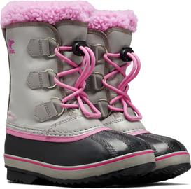 Sorel Youth Pac Nylon Talvisaappaat, Chrome Grey/Orchid 36