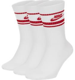 Nike U NK CREW NSW ESSENTIAL STRIPE WHITE/RED