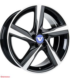 V-Wheels Tornado Black Polished 8.5x20 Jako:5x108 ET:47 vanne