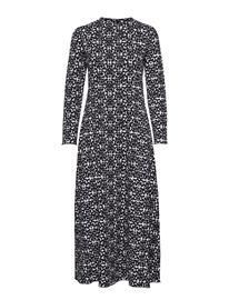 Marimekko Sarastukselle Kebab Dress Maksimekko Juhlamekko Musta Marimekko OFF WHITE, BLACK