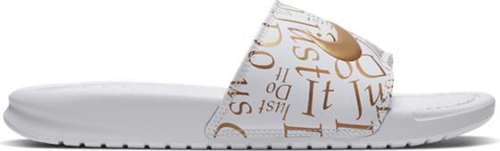 Nike W BENASSI JDI PRIN WHITE/METALLIC GOL