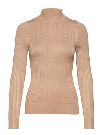 Gina Tricot Julia Knitted Sweater Kilpikonnakaulus Poolopaita Ruskea Gina Tricot NEW CAMEL