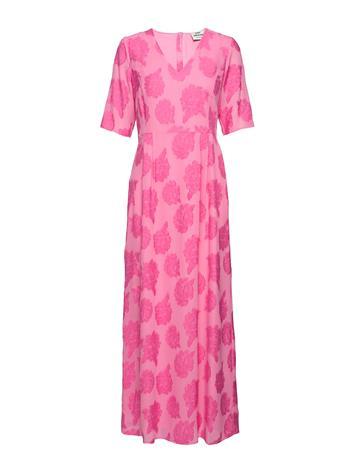 Mads Nä¸rgaard Flora Weave Deily V Long Polvipituinen Mekko Vaaleanpunainen Mads Nä¸rgaard SOFT PINK