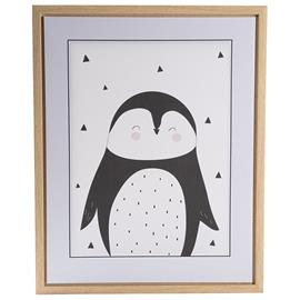 FORM Living, Poster with frame Penguin