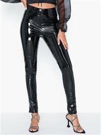 Parisian PU Wet Look Skinny Trousers