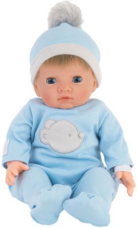 Tiny Treasure - Doll w/ Blond Hair & Blue Bear Outfit (30139)