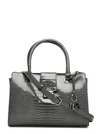 GUESS Cleo Girlfriend Satchel Bags Top Handle Bags Musta GUESS GRAPHITE