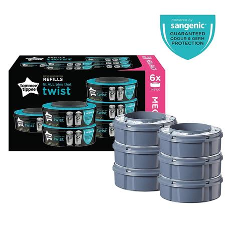 Tommee Tippee, Sangenic Twist & Click Refill 6-p