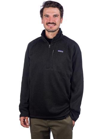 Patagonia Better Sweater 1/4 Zip Fleece Pullover black Miehet, Miesten paidat, puserot ja neuleet