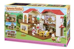 Sylvanian Families 5302, Red Roof Country Home, talo jossa valot