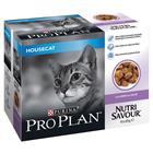 Purina Pro Plan Nutrisavour Housecat 10 x 85 g - 2 x lohta hyytelössä
