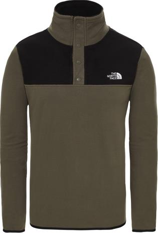 THE NORTH FACE TKA Glacier Snap Neck Fleece Pullover new taupe green / tnf black Miehet