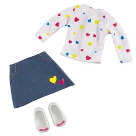 Pop heart T-shirt and skirt