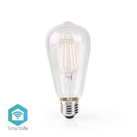 Nedis SmartLife WIFILF10WTST64, Wi-Fi-älylamppu E27, 5 W