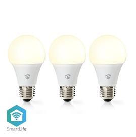 Wi-fi smart led -lamppu lämmin valkoinen e27 3 kpl