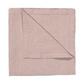 Linum West pellavalautasliina 50x50 cm Puuteriroosa