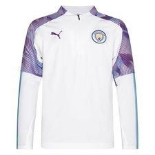 Manchester City Harjoituspaita 1/4 vetoketju - Valkoinen/Sininen Lapset