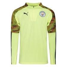 Manchester City Harjoituspaita 1/4 vetoketju - Keltainen/Asphalt