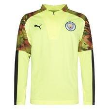 Manchester City Harjoituspaita 1/4 vetoketju - Keltainen/Asphalt Lapset