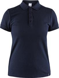 Craft Casual Pique Polo Shirt Women, dark navy