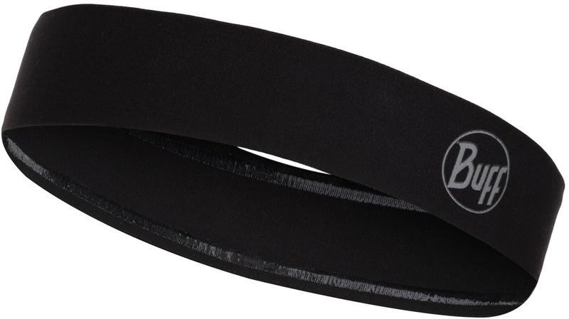Buff Wide Hiuspanta, reflective-solid black