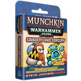 Munchkin Warhammer 40,000: Savagery & Sorcery Lautapeli