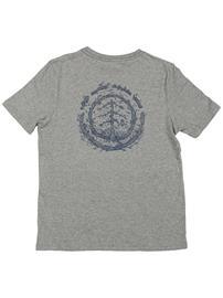 Element Too Late Logo T-Shirt grey heather Jätkät