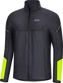 GORE WEAR M Thermo Long Sleeve Zip Shirt Men, black/neon yellow