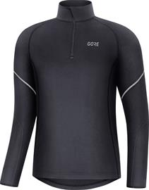 GORE WEAR M Mid Long Sleeve Zip Shirt Men, black