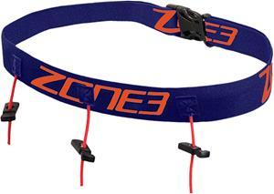 Zone3 Race Belt with Gel Loops, navy/orange