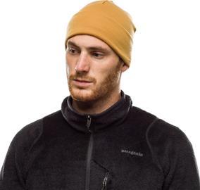 Buff Heavyweight Merino Wool Hat Loose, solid camel