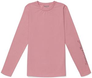 Hyperfied Jersey Logo Long Sleeve Top, Blush 86-92
