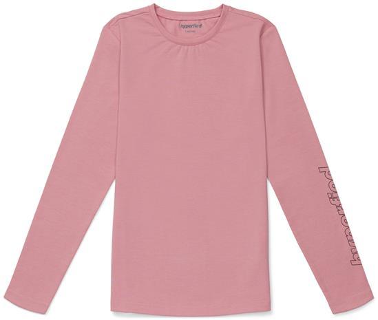 Hyperfied Jersey Logo Long Sleeve Top, Blush 158-164