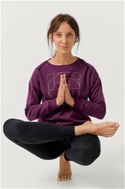 "Sense of Karma"" ""Collegepusero Yoga Crewneck BR FL"
