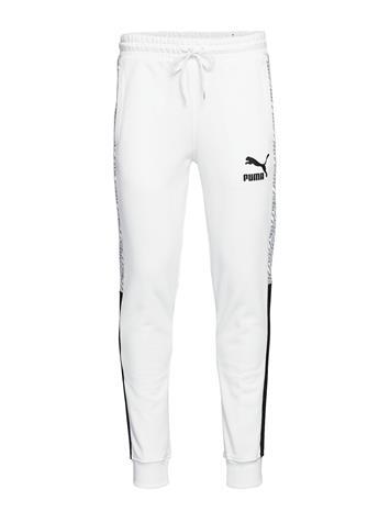 PUMA T7 Track Pants Aop Tr Trousers Sweatpants Valkoinen PUMA PUMA WHITE-REPEAT LOGO