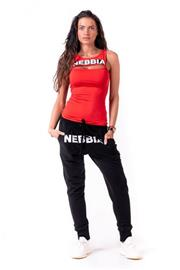 Nebbia Rib Cut Out Top 678, red