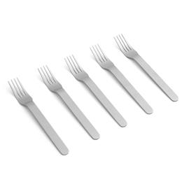 Hay Hay-Everyday Fork Set 5 pcs, Brushed Stainless Steel