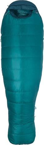 Marmot Angel Fire Sleeping Bag long Women, malachite/deep teal