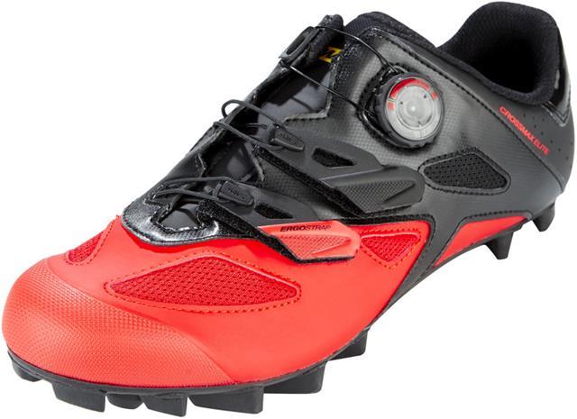 Mavic Crossmax Elite kengät Miehet, black/fiery red/black