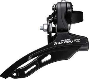 Shimano Tourney TZ FD-TZ500 etuvaihtaja 3x6/7-vaihteinen Down Swing Kiinnike korkea, black