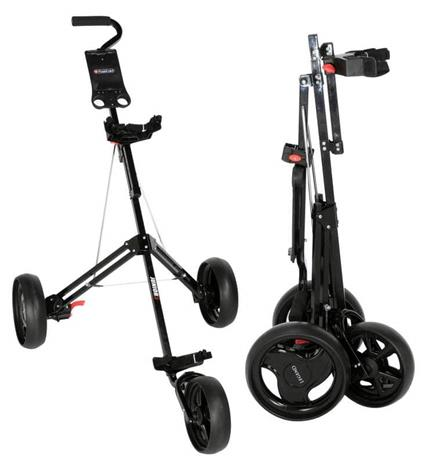 Fastfold Junior 3 Wheel Golf Trolley-Black