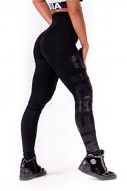 Nebbia One tone pattern leggings 677, black