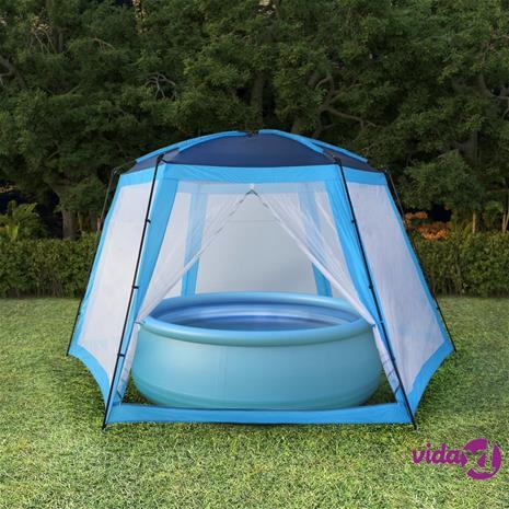 vidaXL Uima-altaan teltta 590x520x250 cm sininen