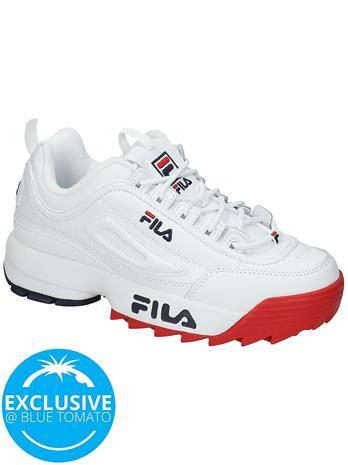 Fila Disruptor II Premium Sneakers white / fila nayv / fila red Naiset