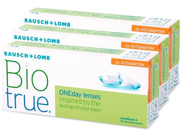 Bausch & Lomb Biotrue ONEday for Astigmatism, kertakäyttöiset piilolinssit 90 kpl