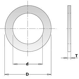 Pienennysrengas CMT 299.212.00; 2x25,4x30 mm